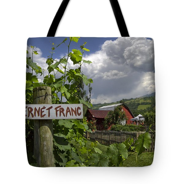 Crane Creek Vineyard Tote Bag by Debra and Dave Vanderlaan