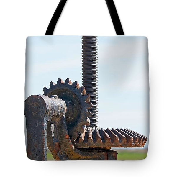 Crank and Gears Tote Bag by Stuart Litoff
