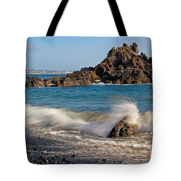 Crashing Of The Waves Tote Bag by Athena Mckinzie