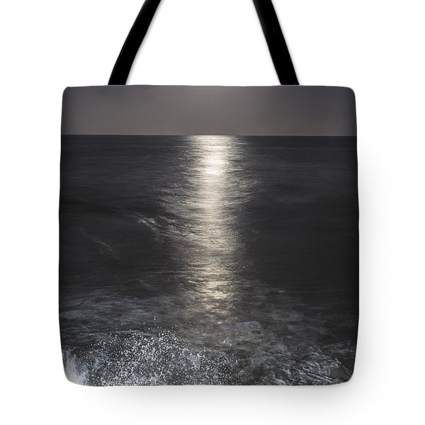 Crashing with the moon Tote Bag by Bryan Toro