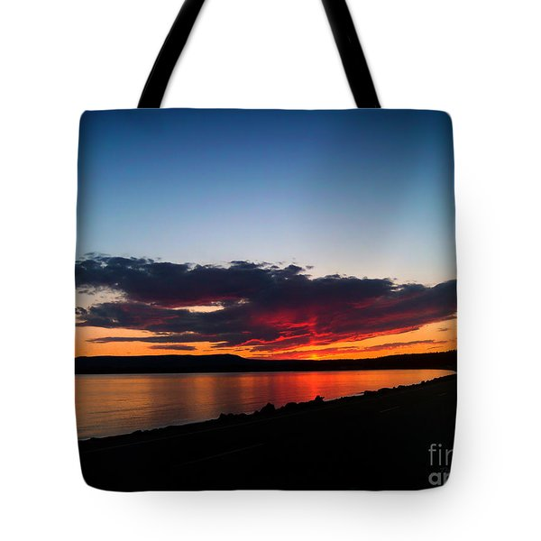 Crater Lake Yellowstone National Park Montana Tote Bag by Thomas Woolworth