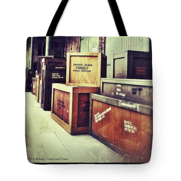 Crates And Crates Tote Bag by Gerry Robins