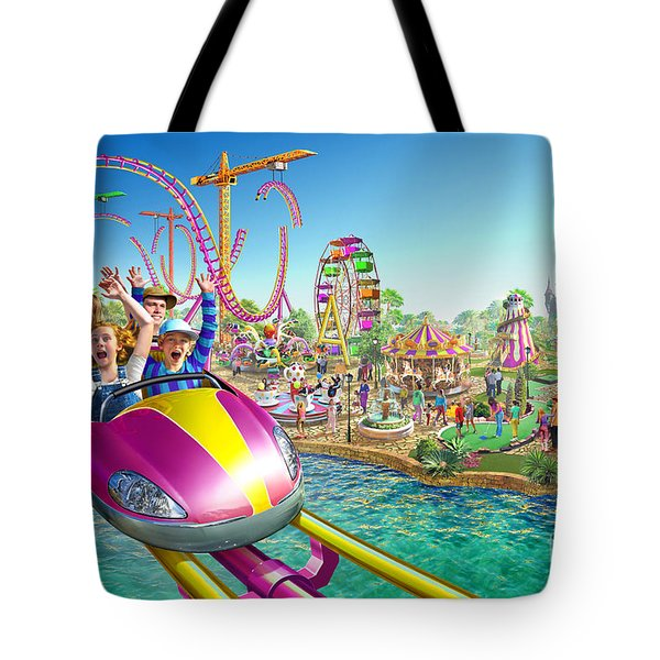 Crazy Coaster Tote Bag by Adrian Chesterman