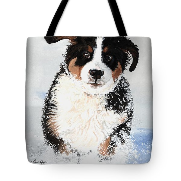 Crazy for Snow Tote Bag by Liane Weyers