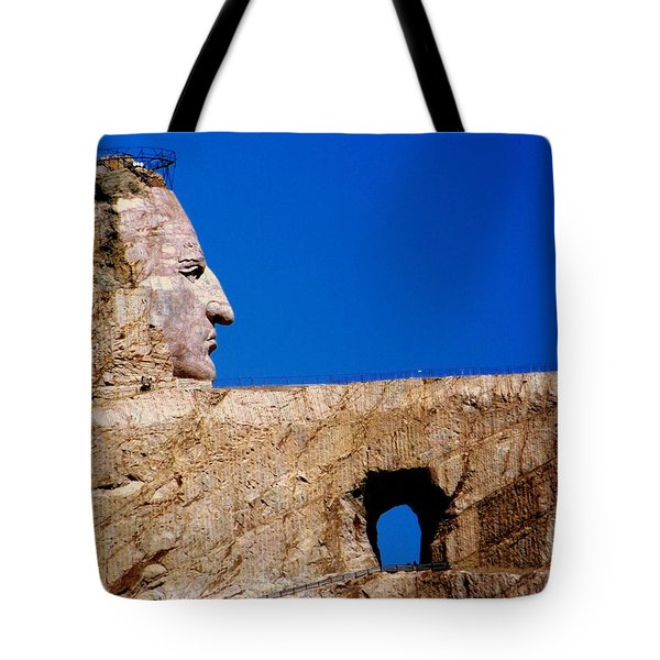 Crazy Horse Tote Bag by Karen Wiles