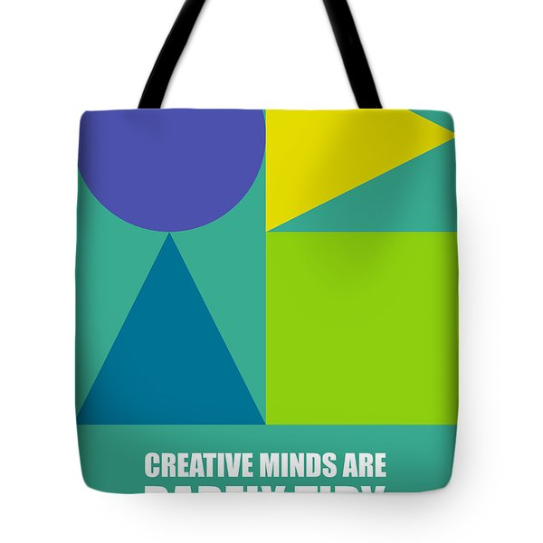 Creative Minds Poster Tote Bag by Naxart Studio