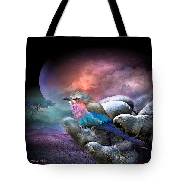 Creatures Great And Small Tote Bag by Carol Cavalaris