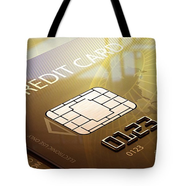 Credit card macro - 3d graphic Tote Bag by Johan Swanepoel