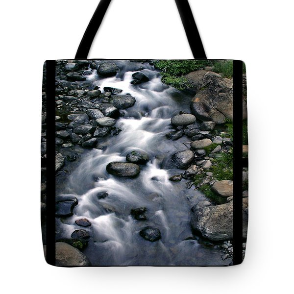 Creek Flow Polyptych Tote Bag by Peter Piatt