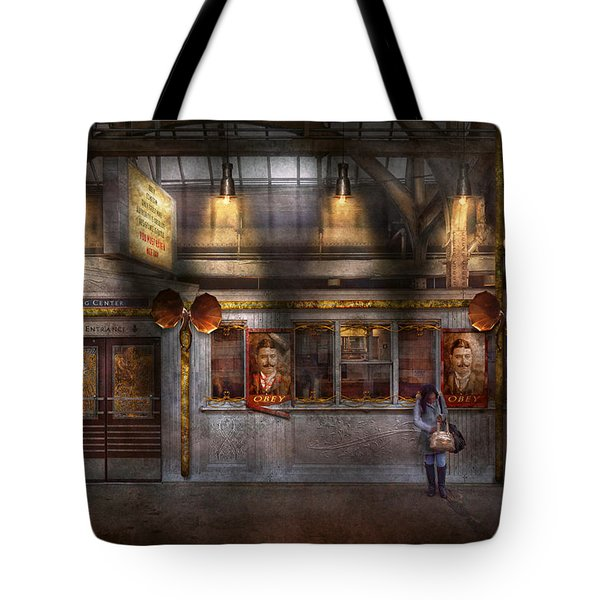 Creepy - Apocalyptic - Obedience and Compliance Tote Bag by Mike Savad