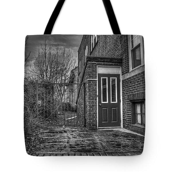 Creepy Gate Tote Bag by Tim Buisman