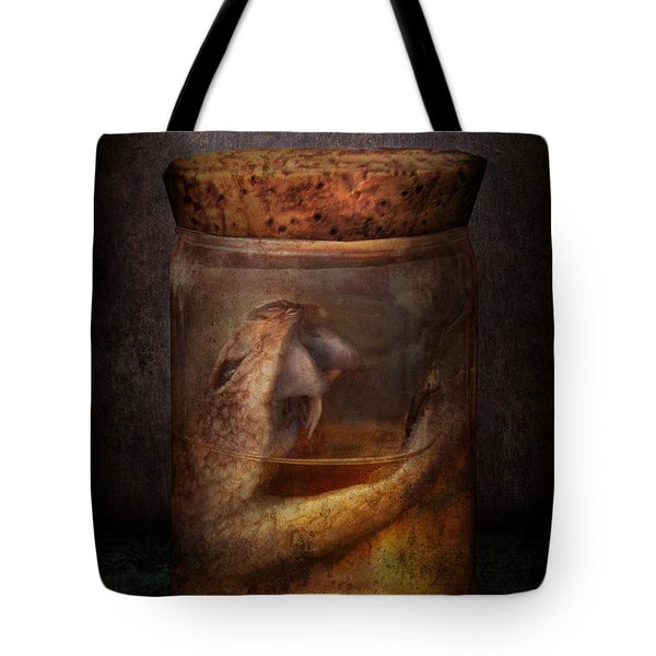 Creepy - Tonight We Eat Snake Tote Bag by Mike Savad