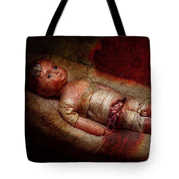 Creepy - Weird - No One Ever Suspected  Tote Bag by Mike Savad