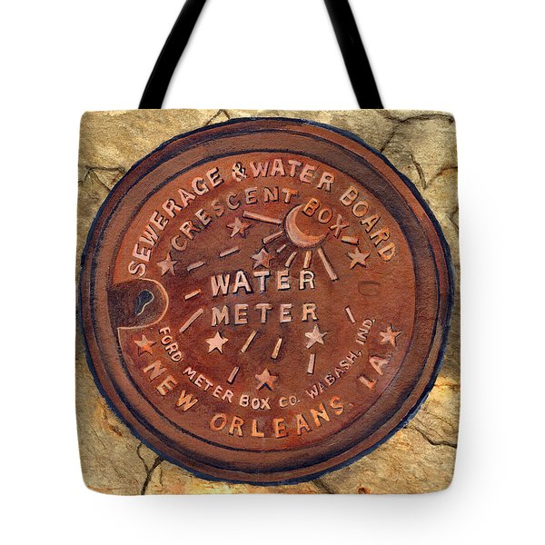 Crescent City Water Meter Tote Bag by Elaine Hodges