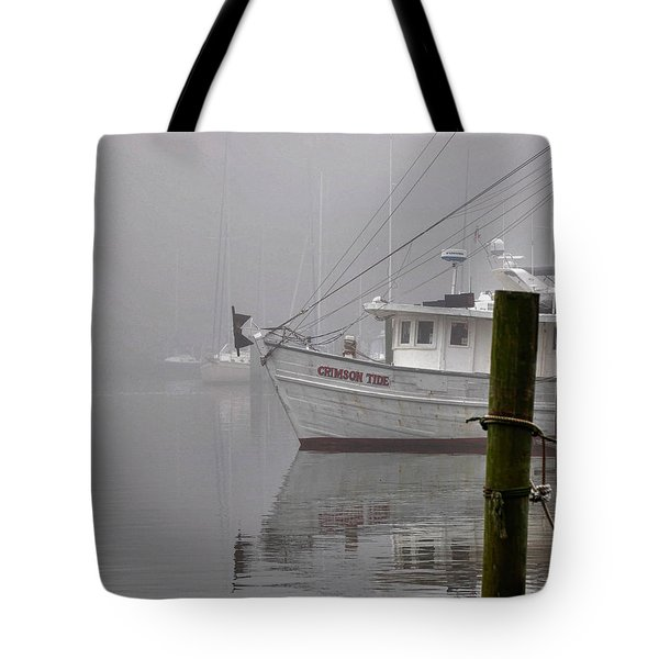 Crimson Tide In The Mist Tote Bag by Michael Thomas