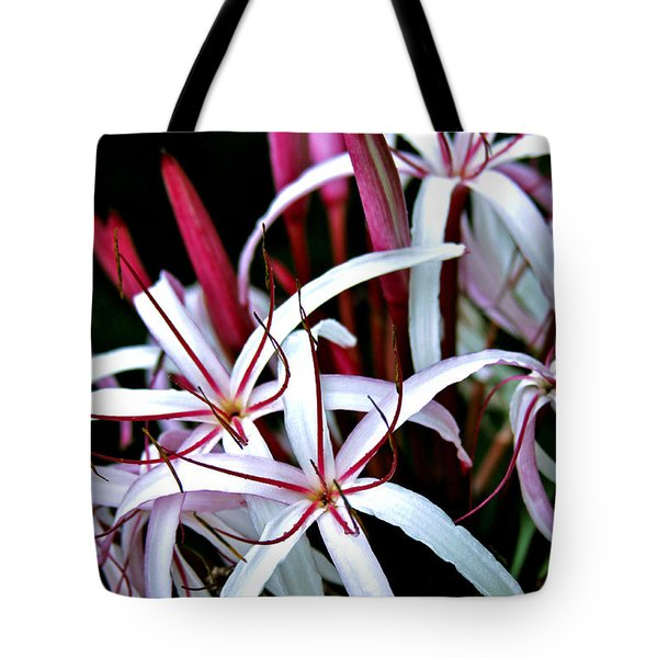 Crinum Asiaticum Spider Lily Hawaii Tote Bag by Karon Melillo DeVega