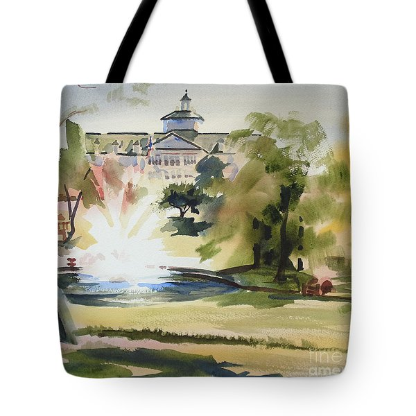Crisp Water Fountain at the Baptist Home III Tote Bag by Kip DeVore