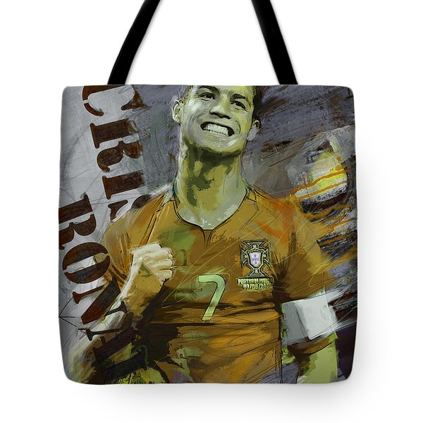 Cristiano Ronaldo Tote Bag by Corporate Art Task Force