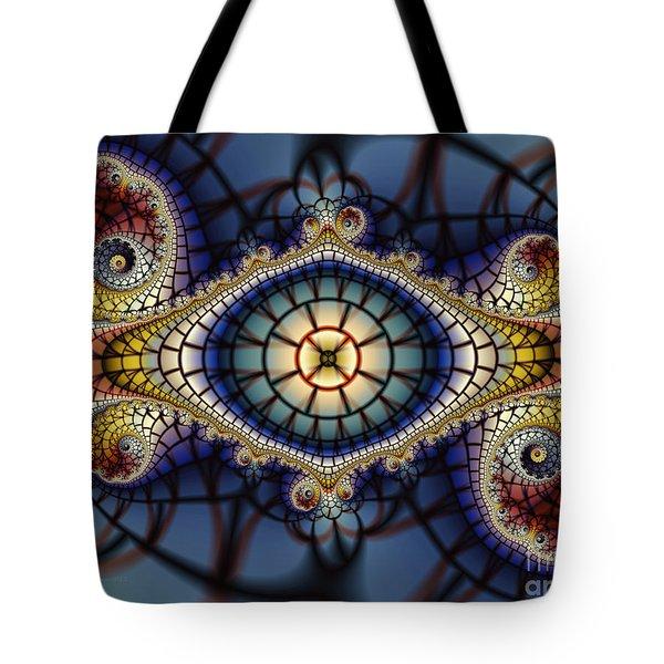 Crochet Work-geometric Abstraction Tote Bag by Karin Kuhlmann