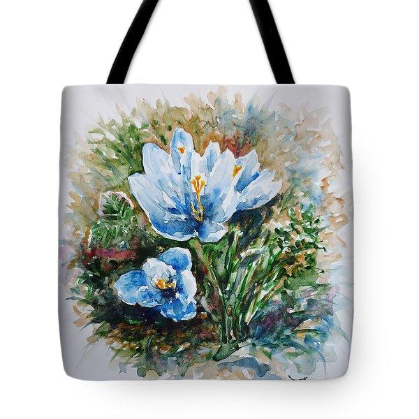 Crocuses Tote Bag by Zaira Dzhaubaeva