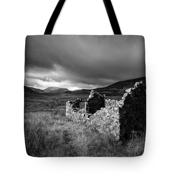 Crofters Cottage Ruin Tote Bag by Dave Bowman