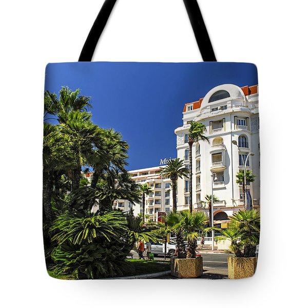 Croisette Promenade In Cannes Tote Bag by Elena Elisseeva