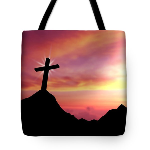 Cross Tote Bag by Aged Pixel