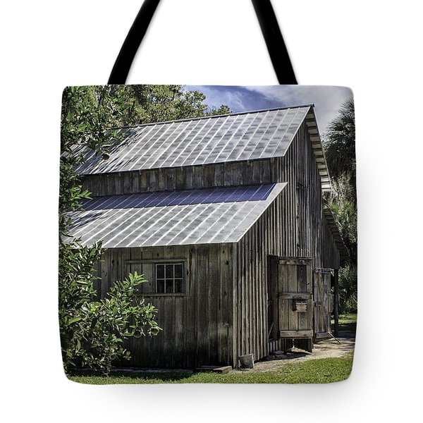 Cross Creek Barn Tote Bag by Lynn Palmer