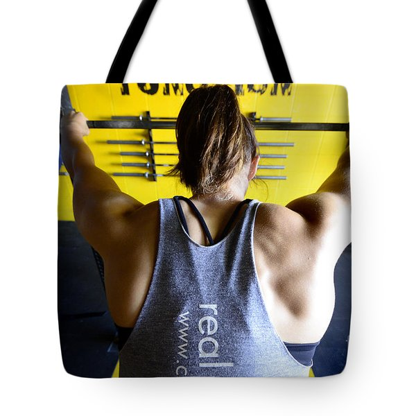 Crossfit 3 Tote Bag by Bob Christopher
