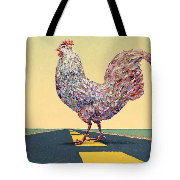 Crossing Chicken Tote Bag by James W Johnson