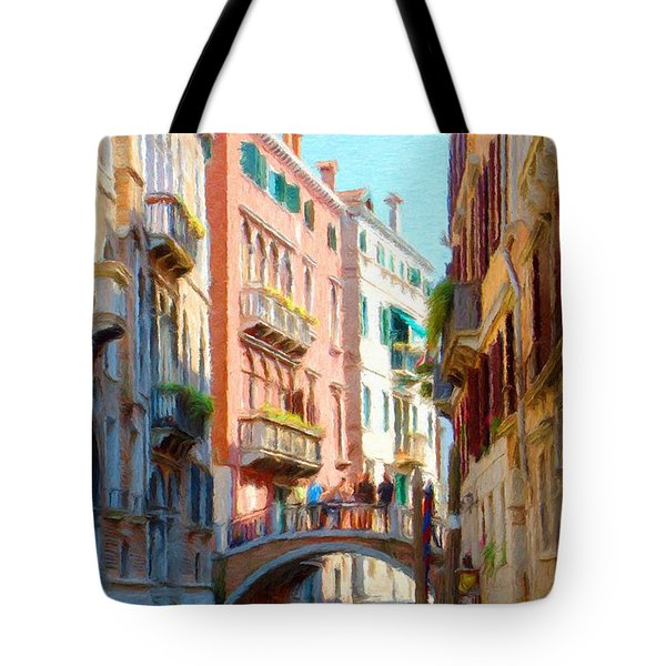 Crossing the Canal Tote Bag by Jeff Kolker