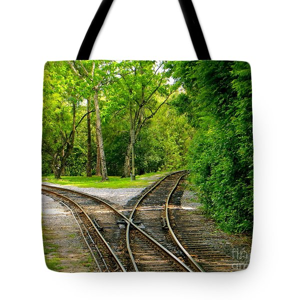 Crossing The Lines Tote Bag by Joy Hardee
