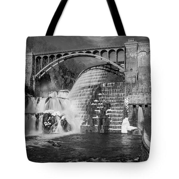 Croton Dam BW Tote Bag by Susan Candelario