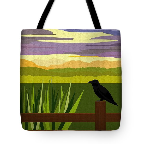 Crow In The Corn Field Tote Bag by Val Arie
