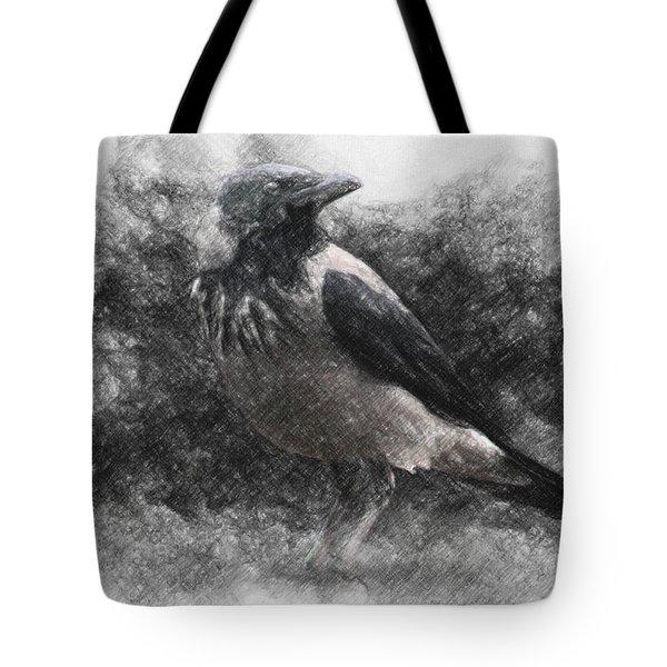 Crow Tote Bag by Taylan Apukovska
