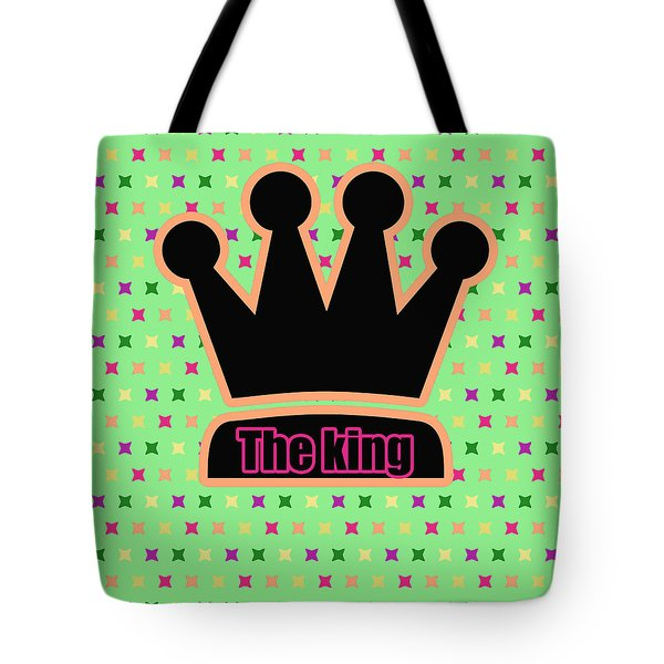 Crown In Pop Art Tote Bag by Toppart Sweden