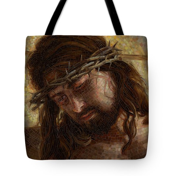 Crown of Thorns Glass Mosaic Tote Bag by Mia Tavonatti