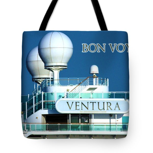 Cruise Ship Ventura's Radar Domes Tote Bag by Terri Waters