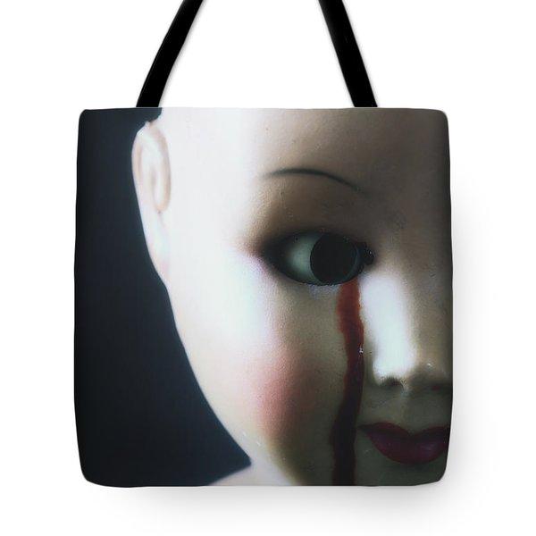 crying blood Tote Bag by Joana Kruse