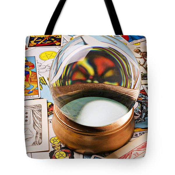 Crystal ball and tarot cards Tote Bag by Garry Gay