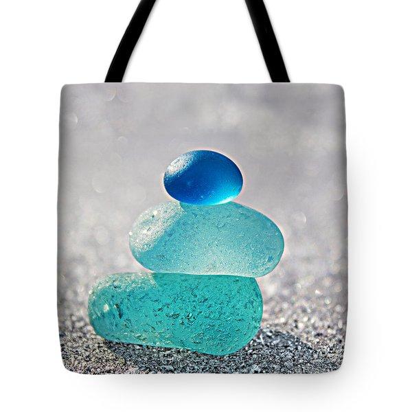 Crystal Blue Tote Bag by Barbara McMahon