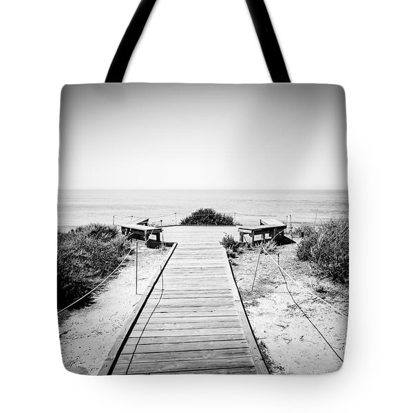 Crystal Cove Overlook Black and White Picture Tote Bag by Paul Velgos