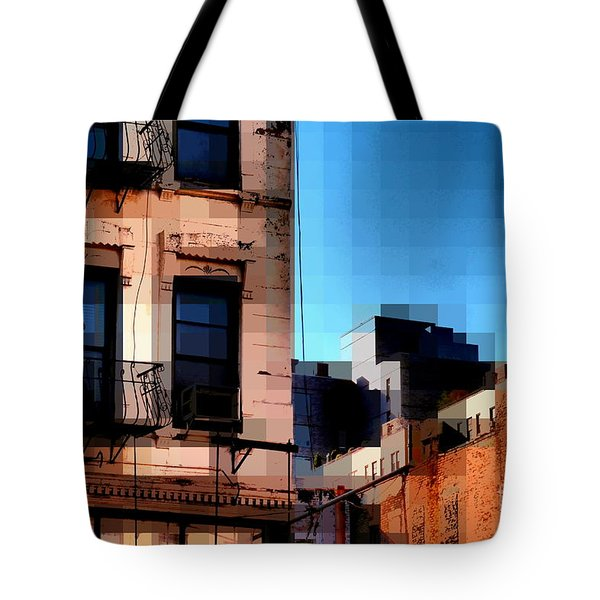 Up On The Roof Tote Bag by Miriam Danar