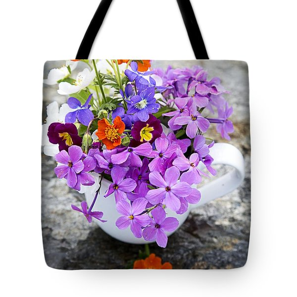 Cup Full Of Wildflowers Tote Bag by Edward Fielding