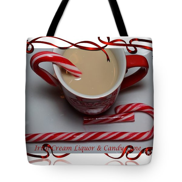Cup of Christmas Cheer - Candy Cane - Candy - Irish Cream Liquor Tote Bag by Barbara Griffin