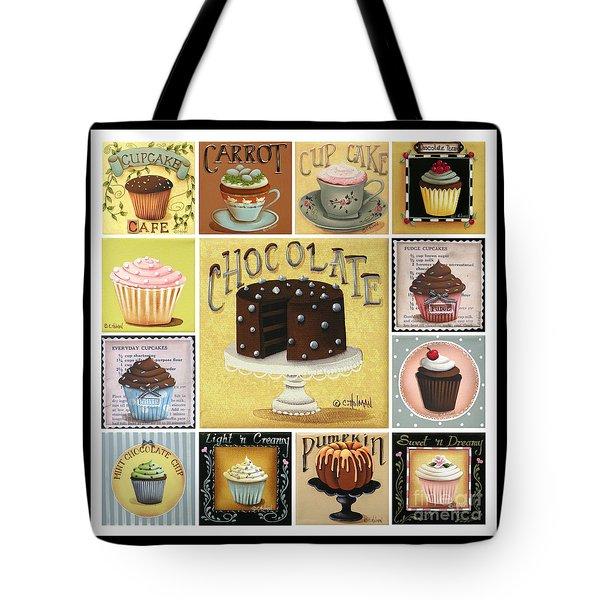Cupcake Mosaic Tote Bag by Catherine Holman