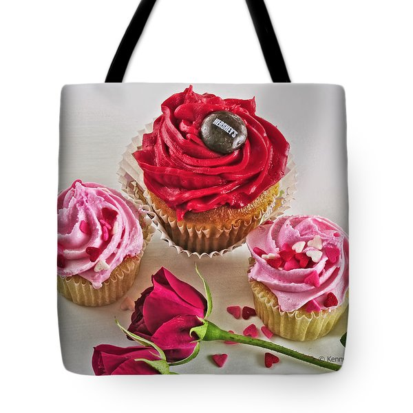 Cupcakes And Roses Tote Bag by Kenny Francis