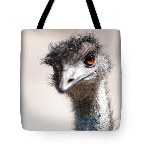 Curious Emu Tote Bag by Carol Groenen