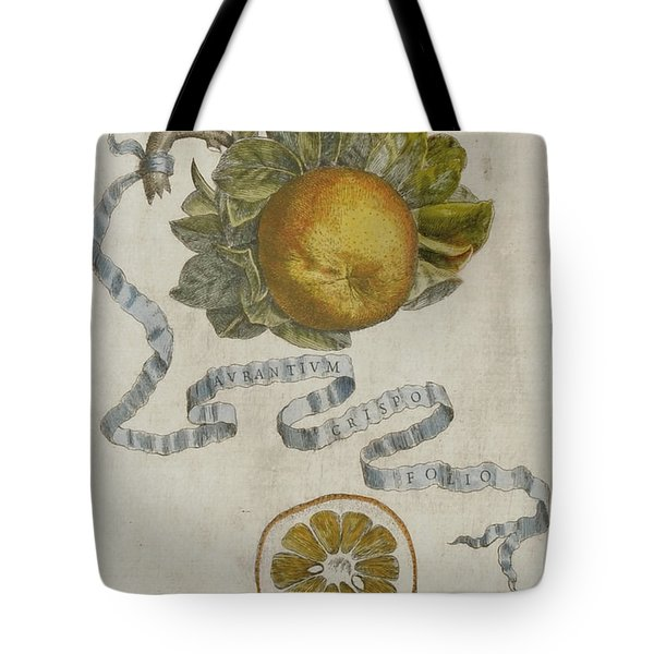Curled Leaf Orange Tote Bag by Cornelis Bloemaert
