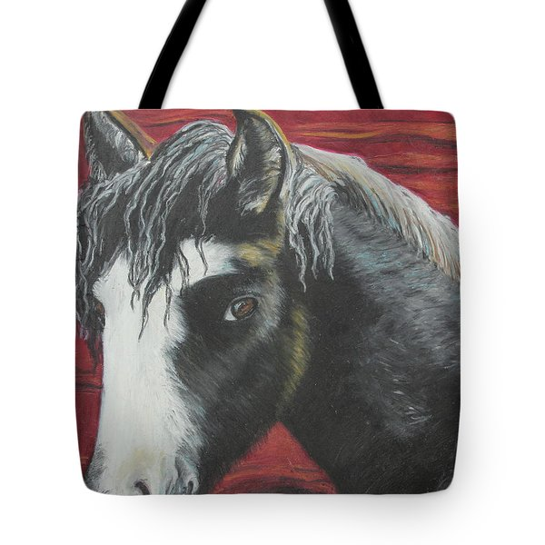 Curly - The Nokota Mustang Tote Bag by Jeanne Fischer